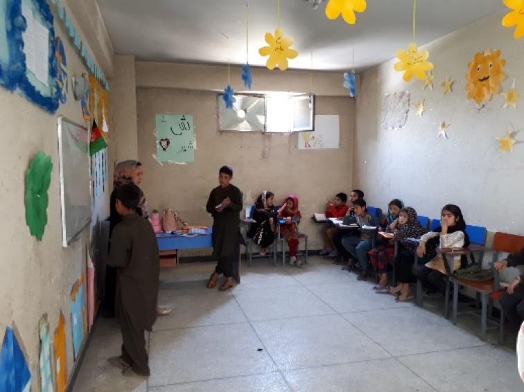 Staff Member from Geneva Visits the Kart-e-Char School